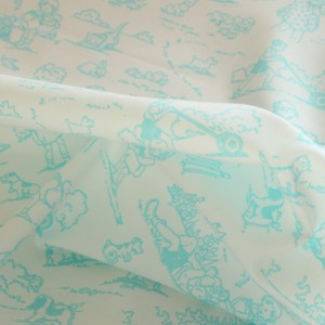 Aqua Childhood Fabric Material